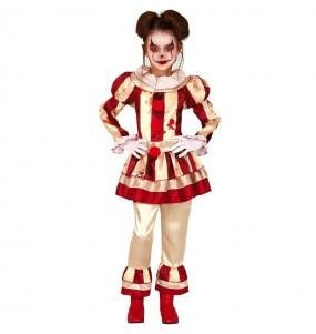 Vestito Pagliaccia disturbata bambine per una festa ad Halloween