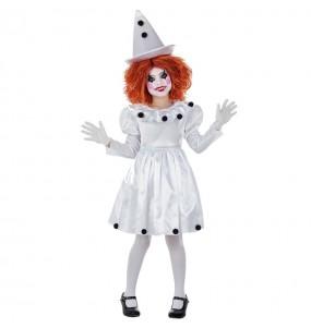 Travestimento Pagliaccia Pierrot bambina che più li piace