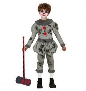Travestimento Pagliaccio assassino malvagio bambini per una festa ad Halloween