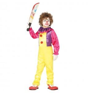 Travestimento Pagliaccio Assassino Pennywise bambini per una festa ad Halloween