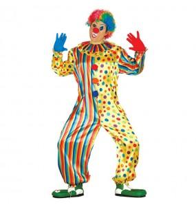 Travestimento Clown Multicolore adulti per una serata ad Halloween