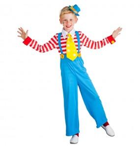 Travestimento Clown con Bretelle bambino che più li piace