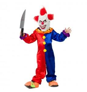 Travestimento Pagliaccio Diabolico bambini per una festa ad Halloween