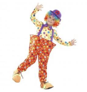 Costume da Pagliaccio a pois per bambino