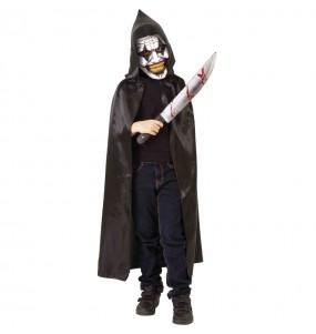 Costume da Pagliaccio maniacale incappucciato per bambino