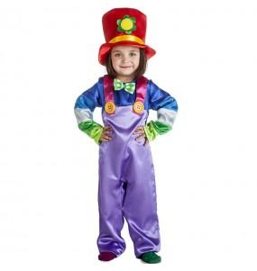 Costume da Pagliaccio viola per bambino