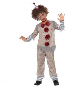 Costume da Pagliaccio Pennywise grigio per bambino