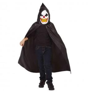 Costume da Pagliaccio disturbato incappucciato per bambino
