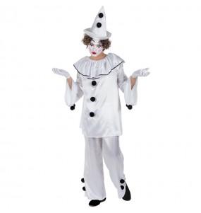 Travestimento Pagliaccio Pierrot adulti per una serata in maschera