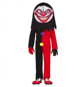 Costume da Pagliaccio sorriso diabolico per bambino