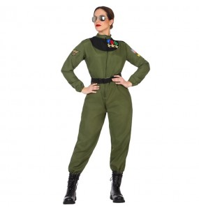 Travestimento Pilota da combattimento donna per divertirsi e fare festa