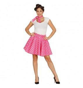 Travestimento Pin Up rosa anni '60 donna per divertirsi e fare festa