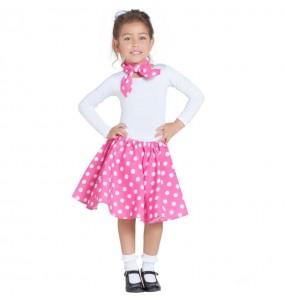 Travestimento Anni 50 rosa bambina che più li piace