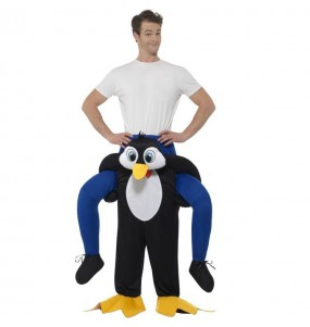 Travestimento adulto Pinguino a cavallucio per una serata in maschera