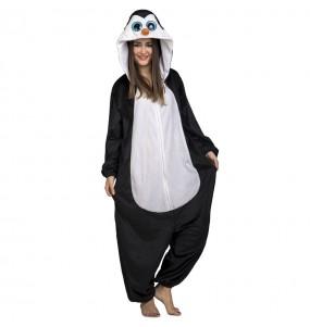 Travestimento Giapponese Pinguino Big Eyes adulti per una serata in maschera