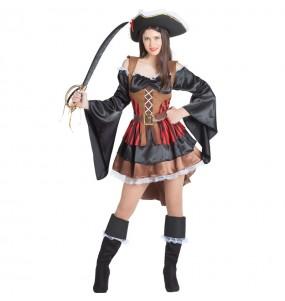 Travestimento Pirata Bucaniere donna per divertirsi e fare festa