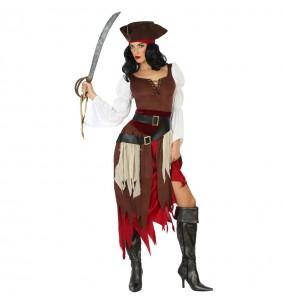 Travestimento Pirata dei Caraibi donna per divertirsi e fare festa