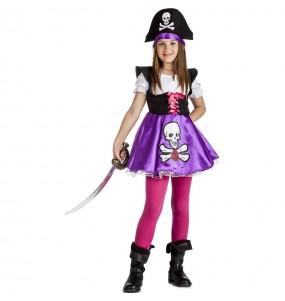 Costume da Pirata viola per bambina