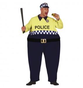 Travestimento Poliziotto grassone adulti per una serata in maschera