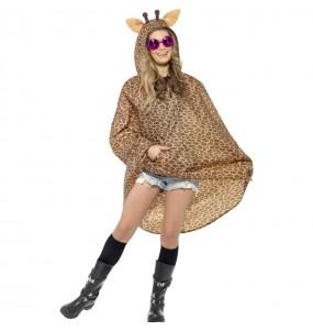 Travestimento Giraffa Poncho Impermeabile adulti per una serata in maschera