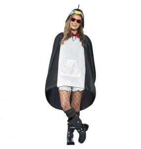 Travestimento Pingüino Poncho Impermeabile adulti per una serata in maschera