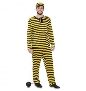 Costume da Prigioniero giallo per uomo
