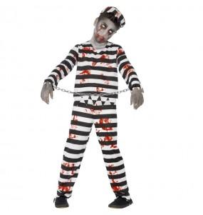 Travestimento Prigioniero zombie bambini per una festa ad Halloween