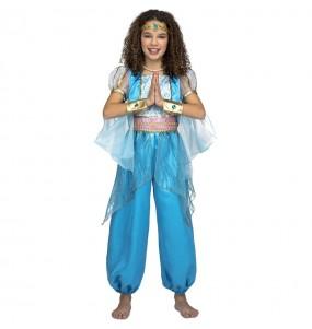Travestimento principessa araba turchese bambina che più li piace
