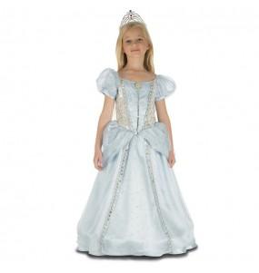 Travestimento principessa blu deluxe bambina che più li piace