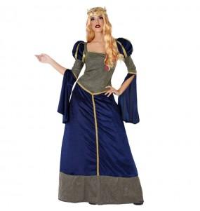 Travestimento Principessa Medievale blu donna per divertirsi e fare festa