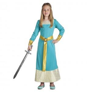 Costume da Principessa medievale elegante per bambina