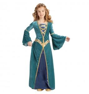 Travestimento Principessa Medievale Verde bambina che più li piace