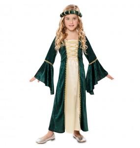 Travestimento Principessa reale verde bambina che più li piace