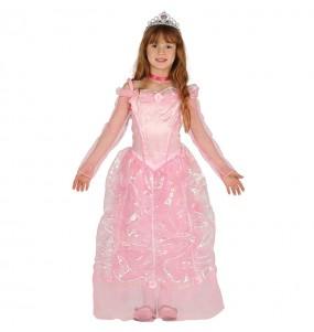Travestimento principessa delle fiabe rosa deluxe bambina che più li piace