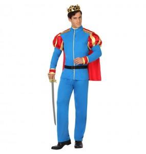 Costume da Principe azzurro con mantello per uomo