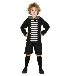 Travestimento Pugsley Addams bambini per una festa ad Halloween
