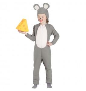Costume da Topo grigio per bambina