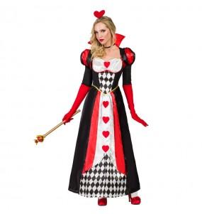 Travestimento Regina di cuori Deluxe donna per divertirsi e fare festa