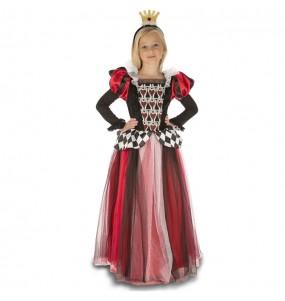 Travestimento Regina di Cuori di lusso bambina che più li piace