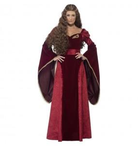 Travestimento Regina Medievale Deluxe donna per divertirsi e fare festa