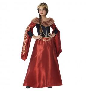 Travestimento Regina Medievale Rosso bambina che più li piace