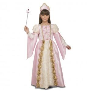 Travestimento regina medievale rosa bambina che più li piace