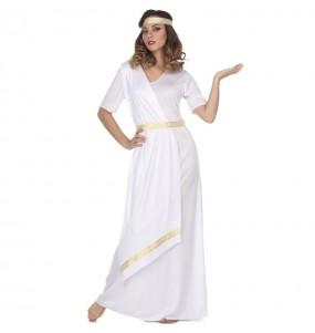 Travestimento Romana bianca donna per divertirsi e fare festa