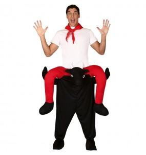 Travestimento adulto Toro San Fermin a cavallucio per una serata in maschera