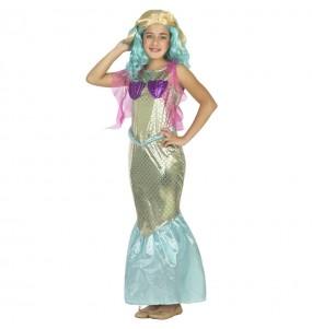 Costume da Sirena del mare per bambina