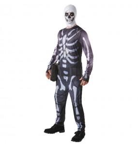 Travestimento Skull Trooper Fortnite adulti per una serata in maschera