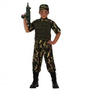 Travestimento Soldato mimetico bambino che più li piace