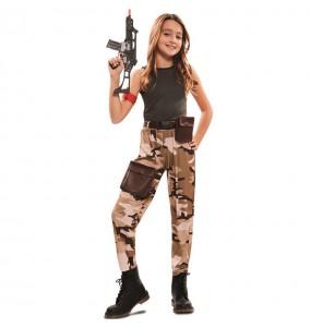 Travestimento Soldato delle Forze Speciali bambina che più li piace