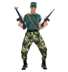 Travestimento Commando Militare adulti per una serata in maschera