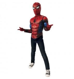 Costume da Spiderman petto muscoloso per bambino